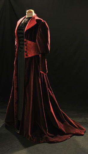 Abrigo y Vestido Mujer 1900 #costumes #vestuario #1900s
