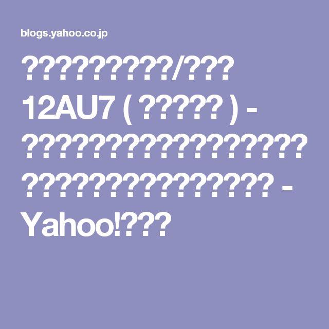 ミニ・アンプの完成/その② 12AU7 ( オーディオ ) - 真空管アンプの自作と、クラシック音楽&家庭菜園&鉄道写真などなど - Yahoo!ブログ