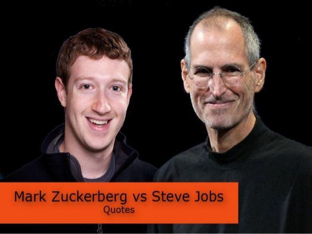 Steve jobs vs mark zucherberg by Blue Line A/S via slideshare