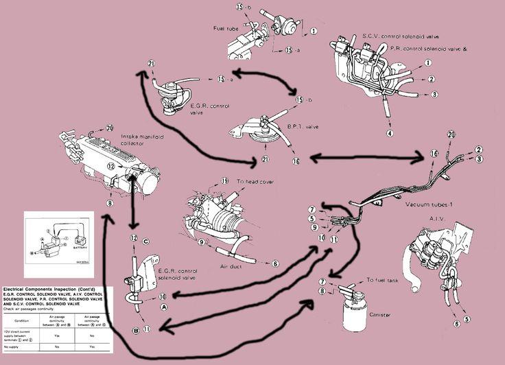 KA24E EGR valve exploded diagram | Stuff | Cars, Trucks
