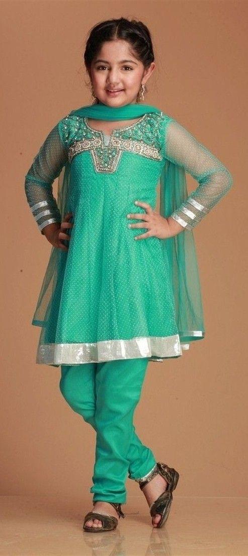 Girl in GReen Salwar