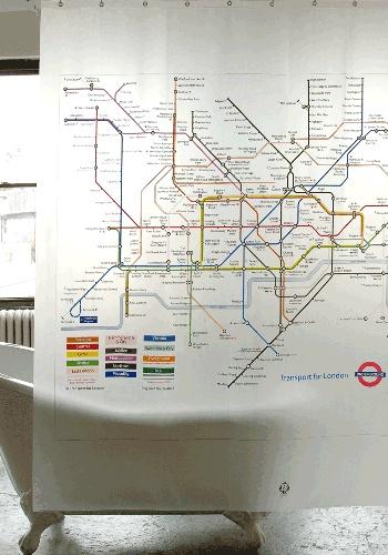 Shower curtain - London Underground
