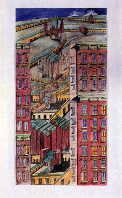 Aldo Rossi, Fragments Collage, 1988