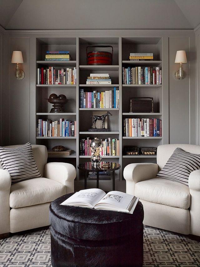47 Einrichtungsdeen für Hausbibliothek und Bücherregalwand ...