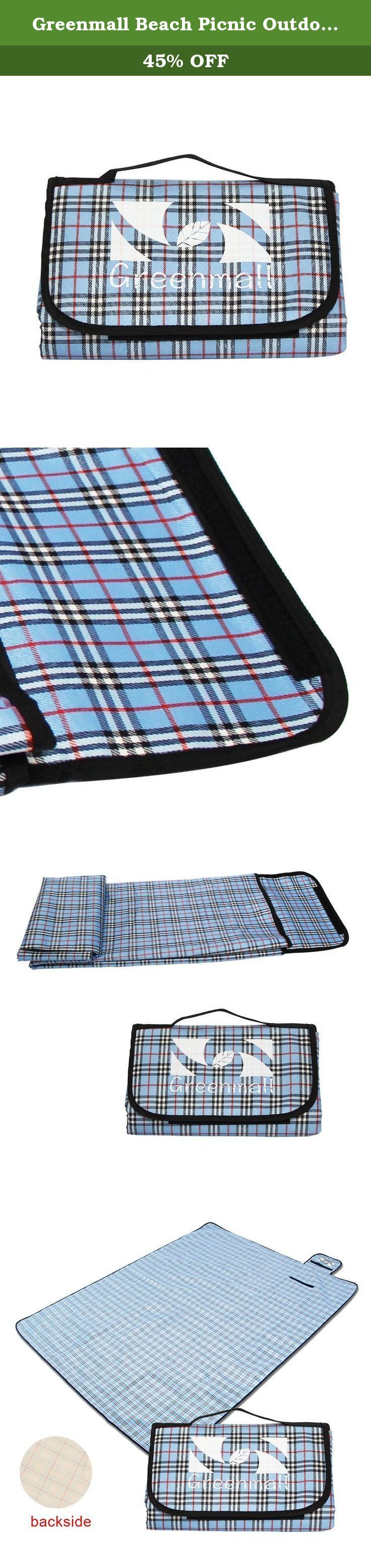 """Greenmall Beach Picnic Outdoor Mat Sand Free Picnic Blanket Large Waterproof Picnic Mat 60""""x72""""(150180cm ) (blue). greenmall."""