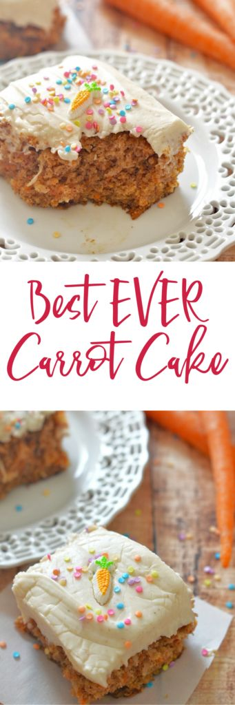 Simple, moist, and delicious. This Best Ever Carrot Cake with Cinnamon Cream Cheese Icing packs a flavor punch with the comforting flavors of cinnamon and spice. It's bursting with carrots and coconut, and piled high with frosting