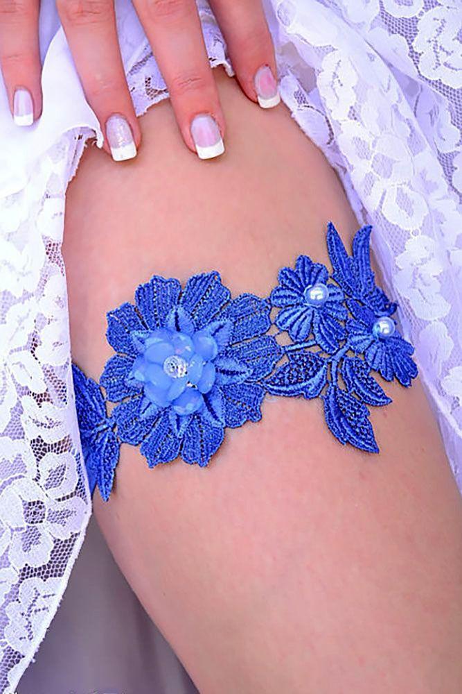 30 Most Pinned Photos In Blue Wedding Theme ❤ See more: http://www.weddingforward.com/blue-wedding-theme/ #weddings #dresses #garters