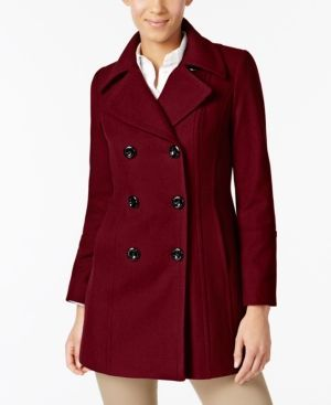 Anne klein petite red peacoat, black chick suck white