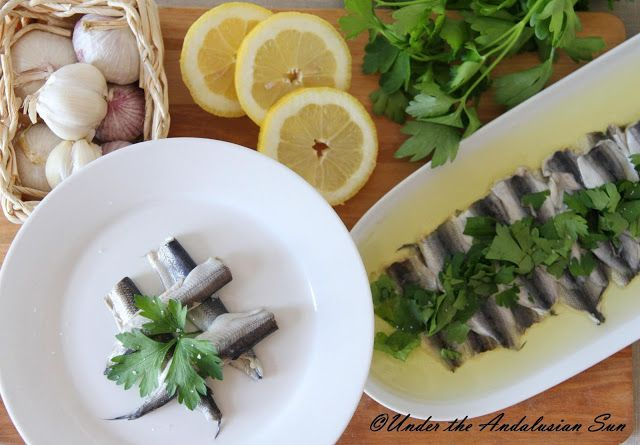 Boquerones en vinagre -  a super easy tapas treat!