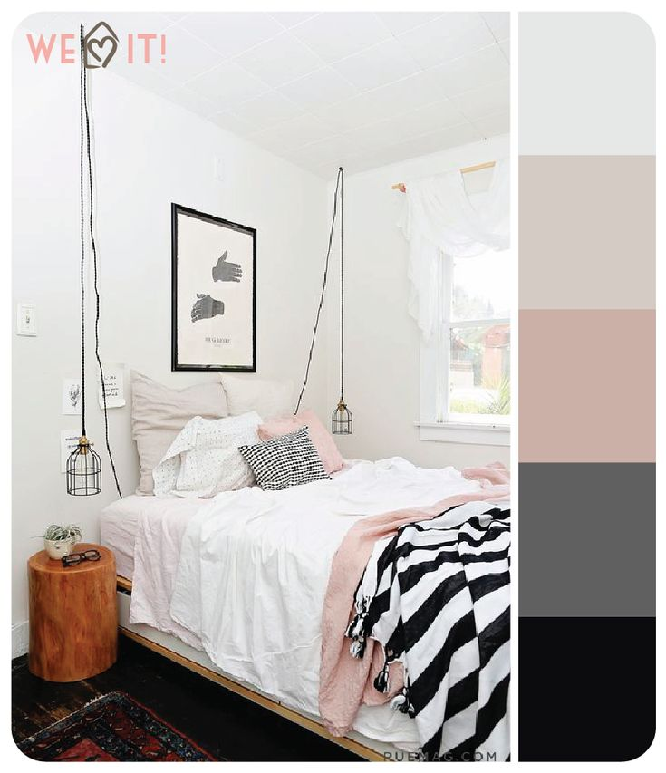 Quarto preto e branco + rose | We love it
