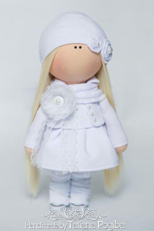 Купить Ангел - интерьерная кукла, текстильная кукла, авторская кукла, ручная работа, Кукольный трикотаж