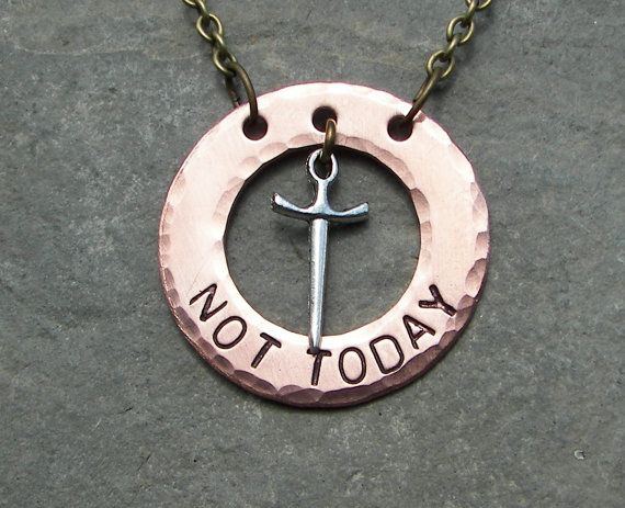 Not Today Necklace Game of Thrones by ChrisClosetCreations on Etsy, $18.00