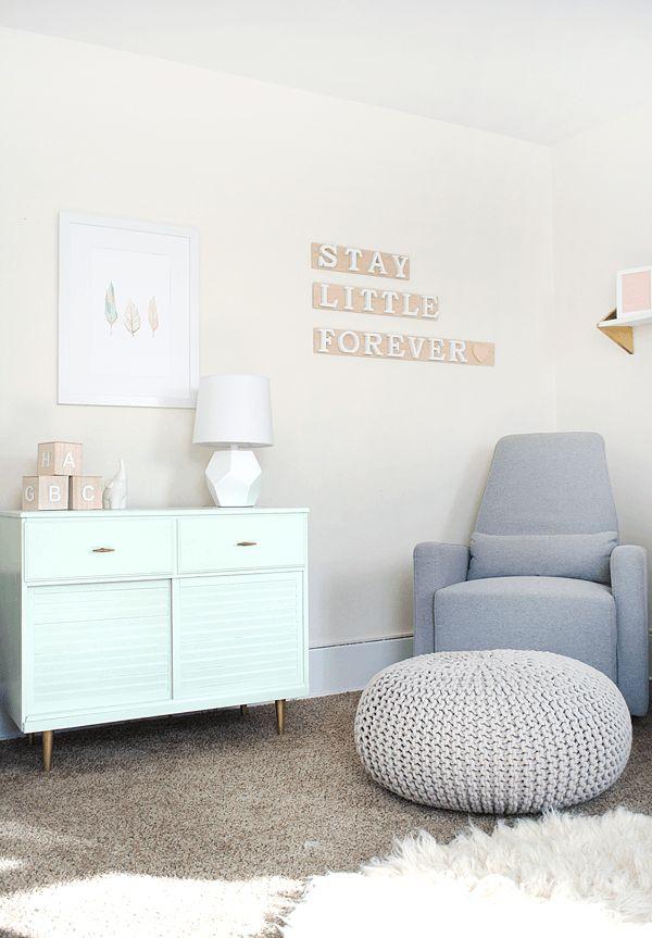 Modern and Chic Nursery Reveal - brepurposed