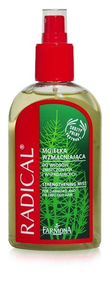 Radical Strengthening Hair Mist Spray Conditioner Hair Loss Treatment | Wyjątkowo skuteczny preparat do włosów zniszczonych i wypadających, wymagających wzmocnienia i regeneracji ♥  http://farmona.pl/produkty/pielegnacja-wlosow/radical-linia-z-wyciagiem-skrzypu-polnego/