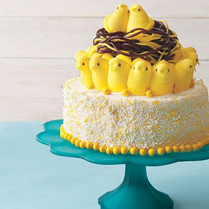 Frost a cake. Add Peeps. Boom: Bird's nest on a cake. Go on and impress your friends. You can even say the idea was yours; we won't tell.