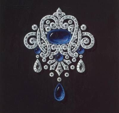 The design of a brooch to Empress Maria Feodorovna, mother to Nikolay II. The Hermitage, St Petersburg, the Romanovs collection