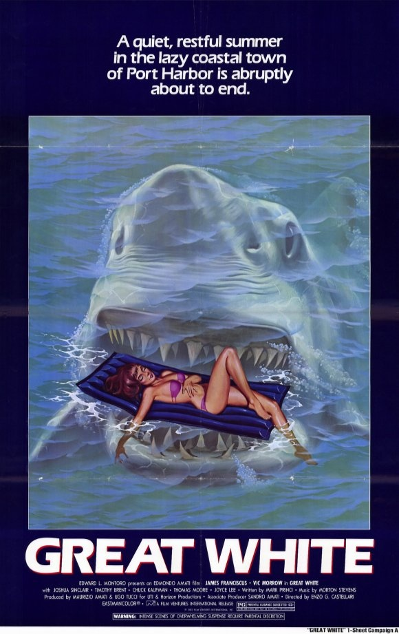 You probably never saw this movie because Speilberg sued the producers for plagerism and won! ... and yes, it's a blatant rip-off! - Great White movie poster (1981)