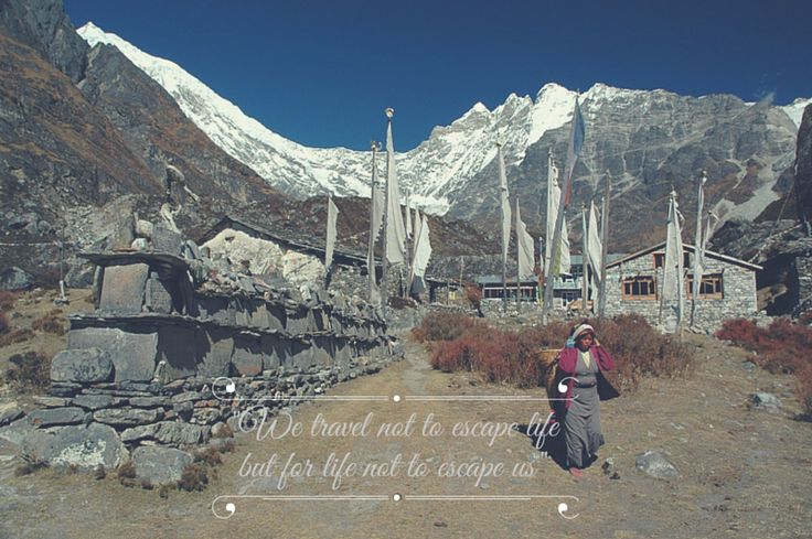 Miejsce, którego nie ma...   There are places that no longer exist - #Nepal - #Langtang Valey   www.kingapater.com #podróże #life #quotes #góry #cytaty
