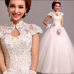 Amazon.co.jp: Doremo global ウェディングドレス ホルターネック/マーメイド引き裾/ロングドレス/エンパイアラインドレス /結婚式/二次会/パーティー/花嫁ドレス (XXXL): 服&ファッション小物