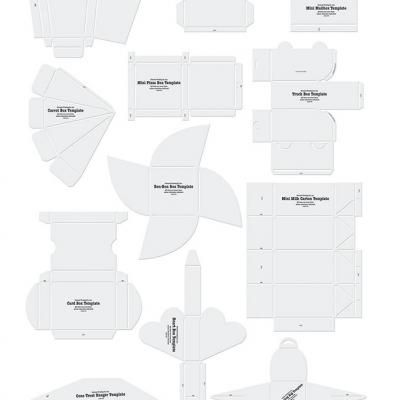 A free template for every party decoration, invitation, box, hat and thank-you-card that you may need to start your paper craft ideas