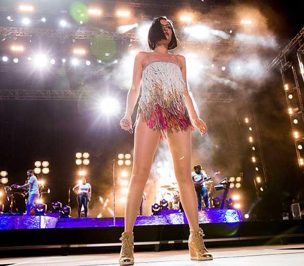 Jessie J performing at Rock in Rio Lisboa at Parque da Bela Vista in Lisbon, Portugal, on June 1, 2014