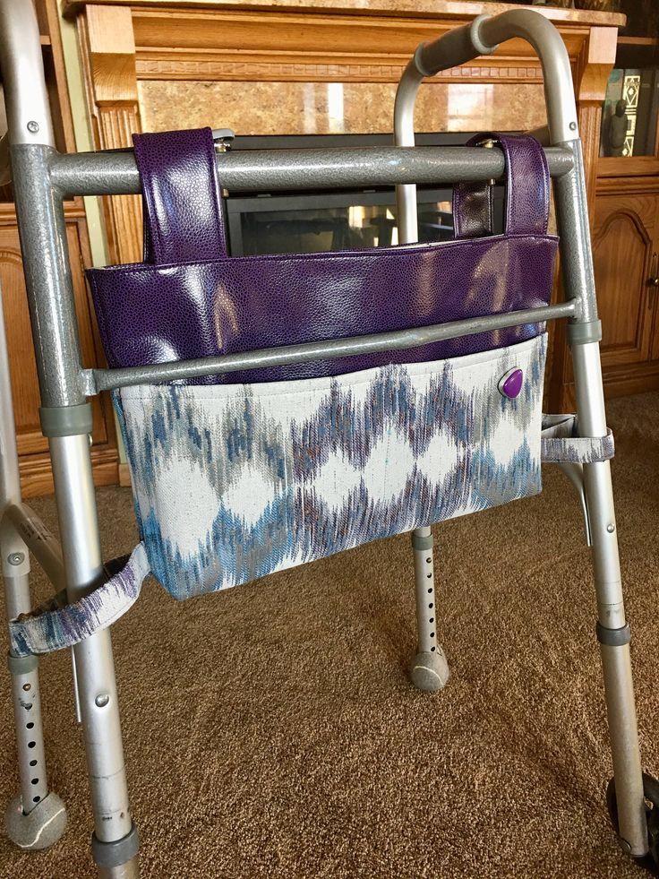 Elegant walker bag, Rollator, mobility accessory, gift for grandma, nursing home gift, assisted living gift, Zimmer frame bag, walker caddy by OnTheMoveByMarlys on Etsy
