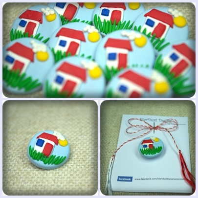 My dream house ♥ - polymer clay brooch