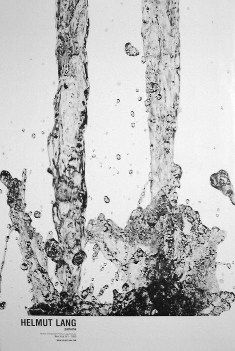 Helmut Lang perfume ad // Photography Larry Larimer // Marc Atlan, design