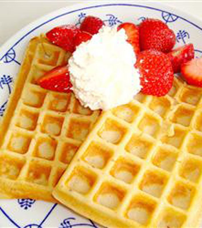 Quinoa Goat Milk Belgian Waffle With Double Cherry Maple Syrup Recipes ...