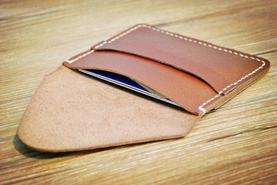 Mens wallet, card holder, custom vegan wallet, minimalist slim small wallet, brown, gifts for him, credit card holder, cool wallets for men