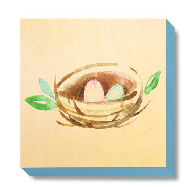 CHI 040 Children's Art - Watercolour Nest
