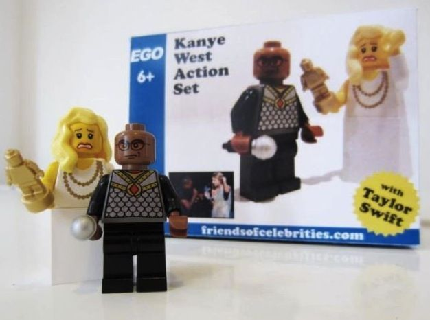 Kanye West action set. With Taylor Swift. So funny :P