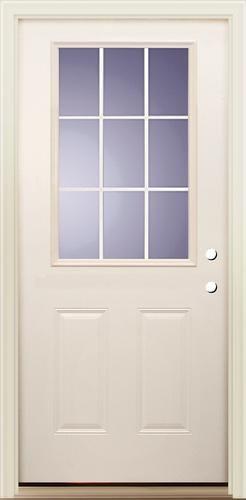 I 4 1 2 Lite Vinyl Clad Prehung Smooth Fiberglass Door 36 X 80 Lh At Menards House Hold