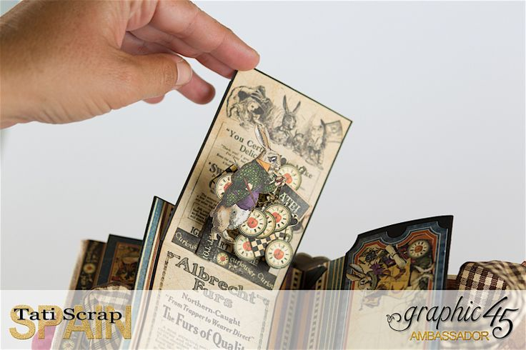 Tati, Hallowe'en in Wonderland., Magical Book, Product by Graphic 45, photo 21
