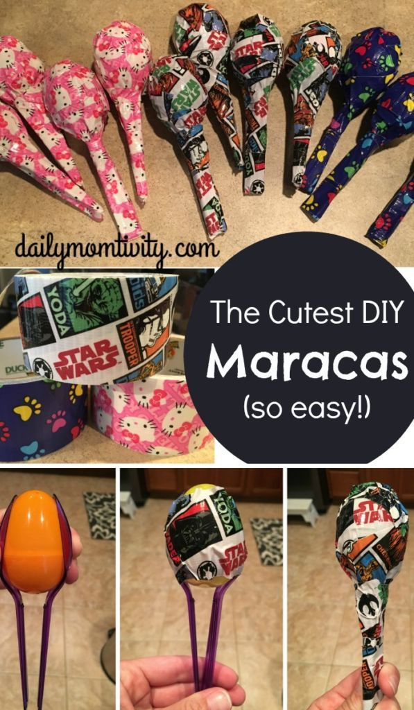 DIY maracas for kids that are so easy to make! Perfect idea for a school store http://dailymomtivity.com