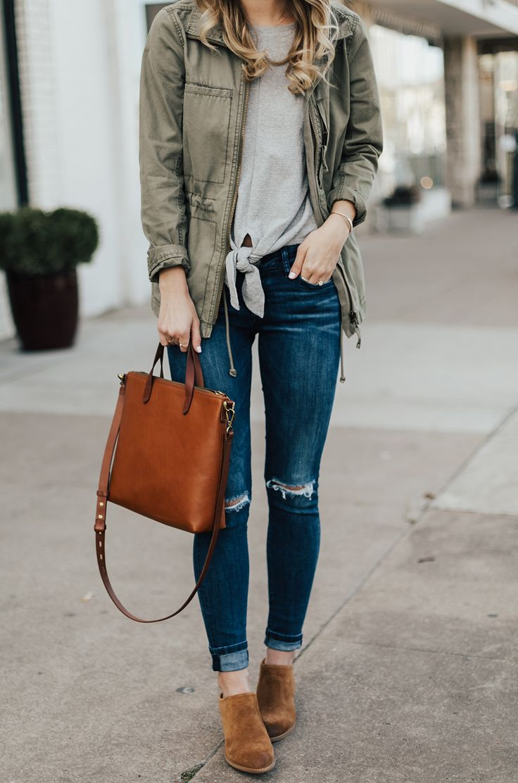 Tie Front Tee & Jeans | LivvyLand