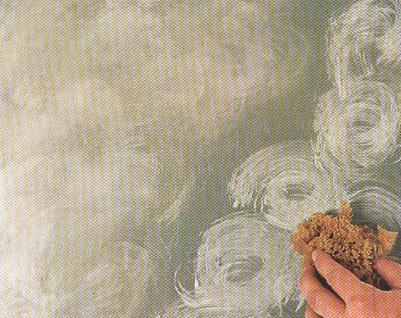 Acabados - Esponjeado en pared