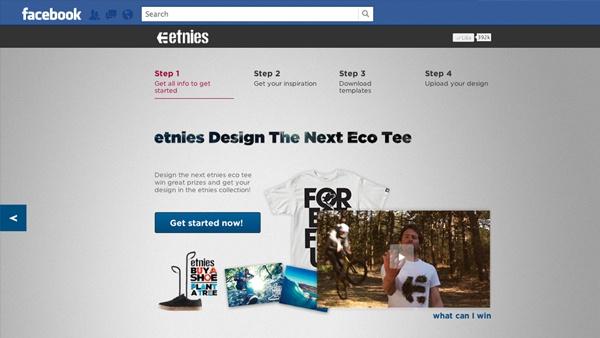 etnies Design The Next Eco Tee Facebook app