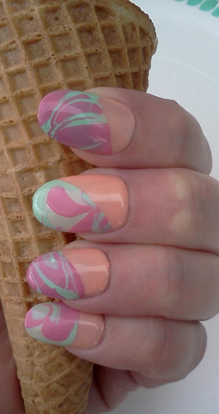 Great Lashing: Crazy Summer Nails: Rainbow Sherbet