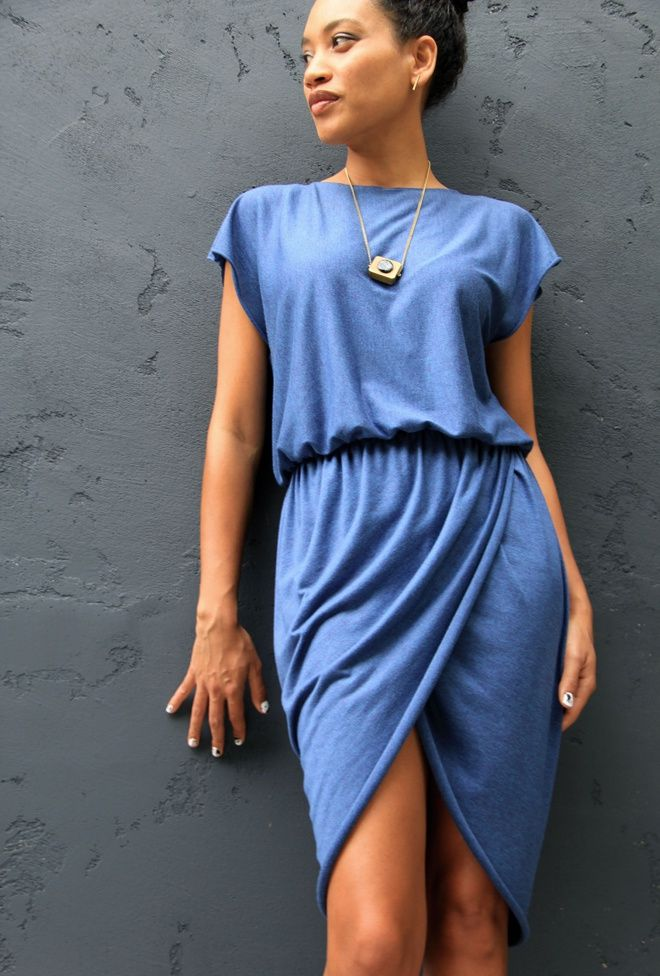 Трикотажное платье с запахом тюльпан (Diy) / Простые выкройки / Своими руками - выкройки, переделка одежды, декор интерьера своими руками - от ВТОРАЯ УЛИЦА
