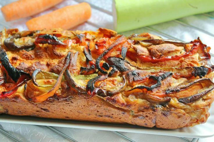 Plumcake salato di melanzane, zucchine, peperone e carote