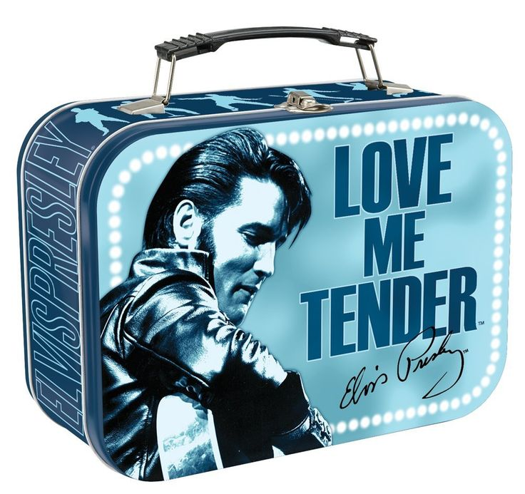 Elvis Presley Lunch Box Metal tin Love Me Tender  sc 1 st  Pinterest : metal lunch box walmart - Aboutintivar.Com