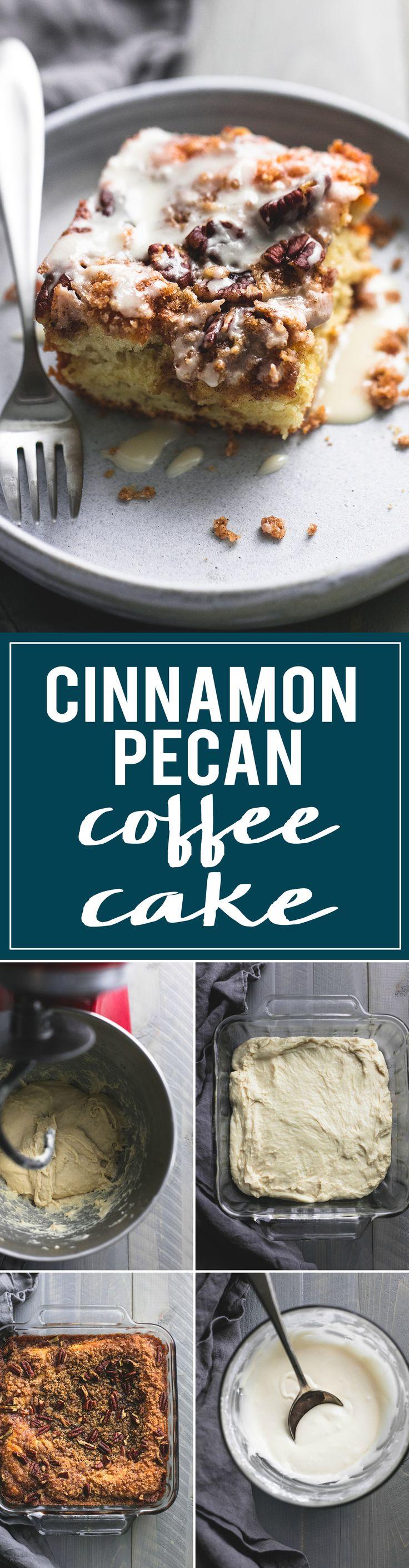 Easy Cinnamon Pecan Coffee Cake | lecremedelacrumb.com