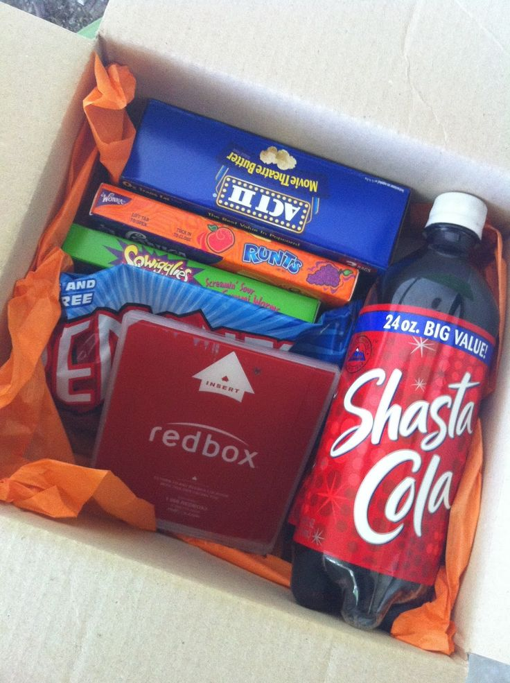 """Date Night In A Box - Each take a turn filling the box or bag with a """"date"""""""