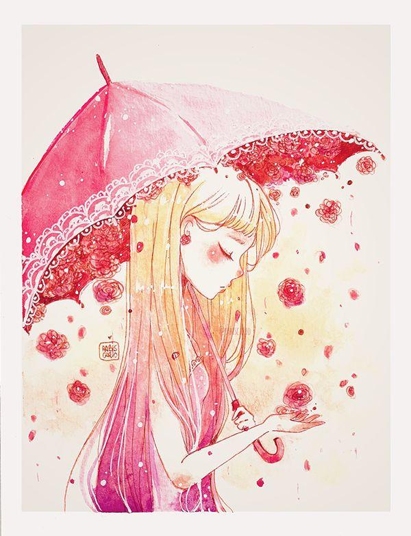 Watercolor Flower Girls on Behance