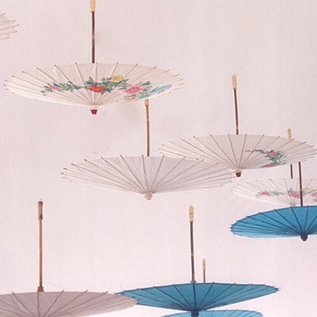 Asian paper parasols
