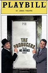 """The Producers"" Playbill cover - my first big Broadway show!"
