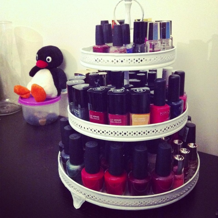 Rangement vernis nail polish rangement make up - Etagere murale pour vernis a ongle ...
