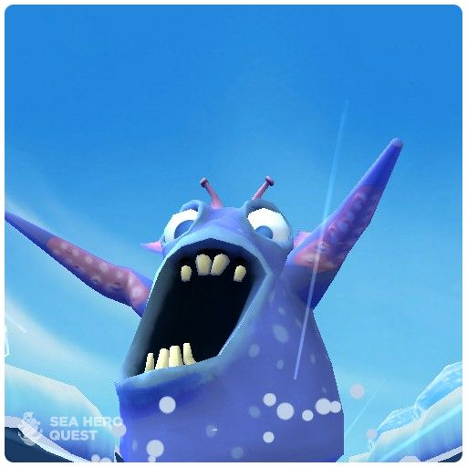 I discovered a creature on my Sea Hero Quest. Be a real hero at www.seaheroquest.com #gameforgood