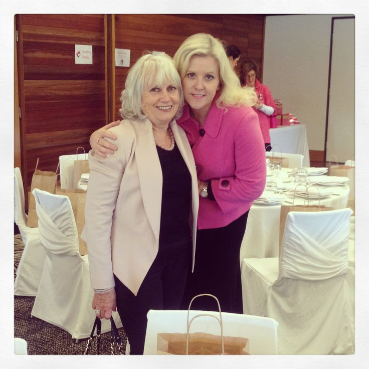 Tracy and Marcella Zemanek at the McGrath Foundation's Signature High Tea in Dubbo on June 2, 2013.